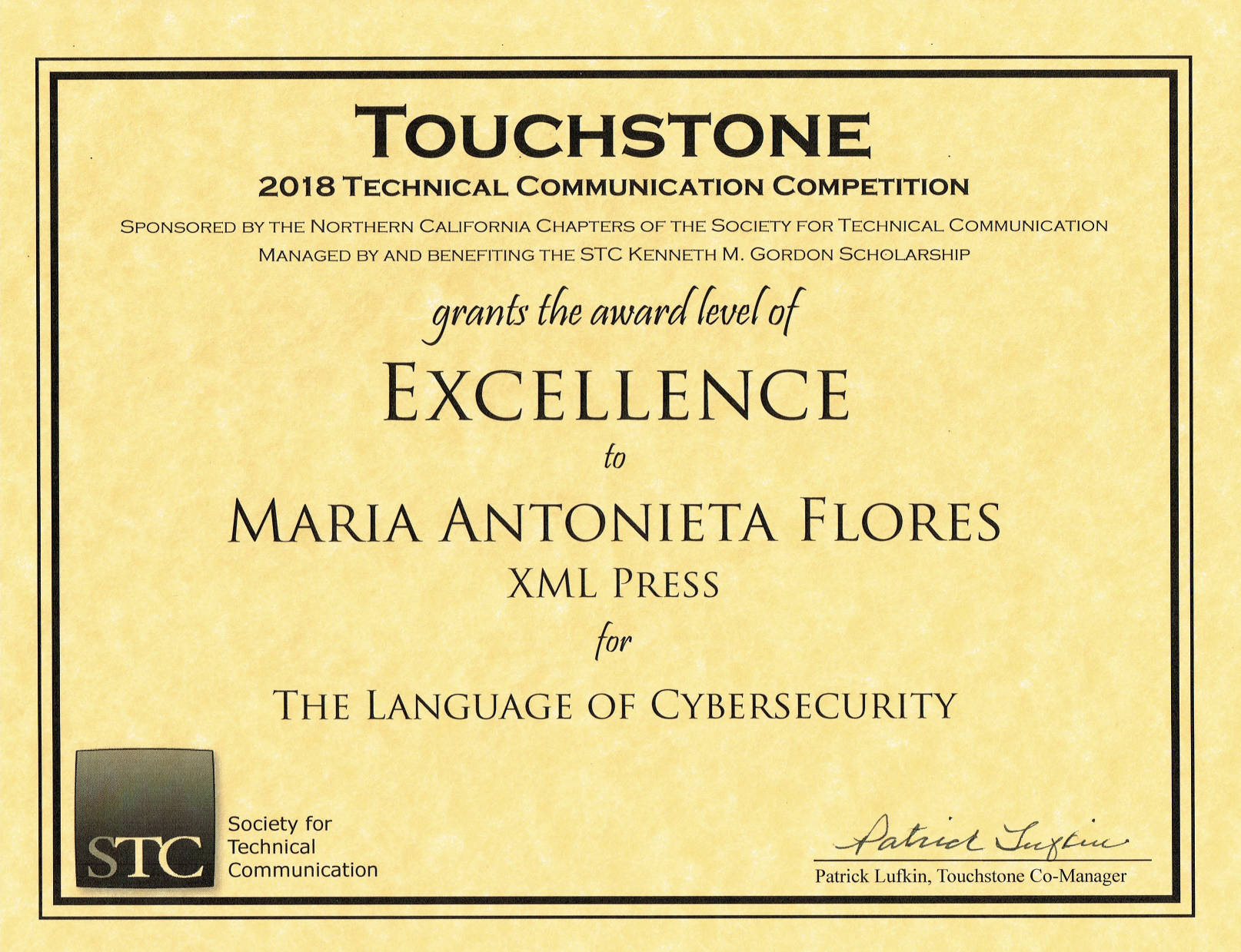 Touchstone Award